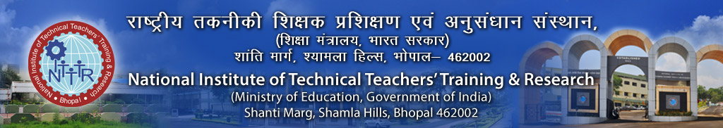 National Institute of Technical Teacher Training and Research, Bhopal